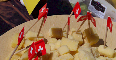 Le Gruyères cheese comes from Gruyères, Switzerland. Photo via Flickr:temptationize