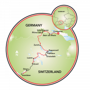 Lake Constance to Lucerne Bike Tour Map