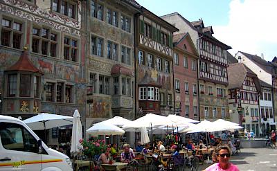 Fancy facades in Stein-am-Rhein, Switzerland. Flickr:Brian Burger