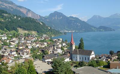 Lakeside town of Weggis, Switzerland. Flickr:Jeff Dlouhy
