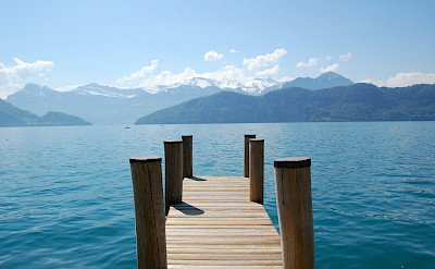 View of Vierwaldstattersee in Weggis, Switzerland. Flickr:Edwin Lee