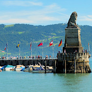 Entrance into the harbor of Lindau Island, Bodensee, Germany. Flickr:Keith Roper