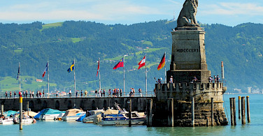 Entrance into the harbor of Lindau Island, Bodensee, Germany. Photo via Flickr:Keith Roper