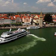Boats in harbor on Lindau Island, Lake Constance, Germany. Flickr:Jura