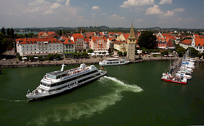 Boats in harbor on Lindau Island, Lake Constance, Germany. Flickr:Jura