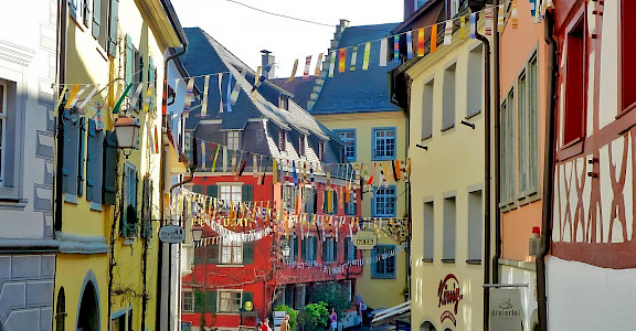 Meersburg is a medieval town on Lake Constance in Germany. Flickr:F Delventhal