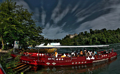 Boat ride Rheinfall near Schaffhausen, Switzerland. Flickr:Stephanie Kroos