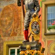 Statue in Stein-am-Rhein, Switzerland. Flickr:stephanie kroos