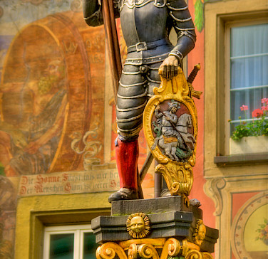 Statue in Stein-am-Rhein, Switzerland. Photo via Flickr:stephanie kroos