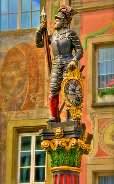 Statue in Stein-am-Rhein, Switzerland. Flickr:stephanie kroos