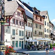 Shopping in Stein-am-Rhein in canton Schaffhausen, Switzerland. Flickr:Luca Casartelli