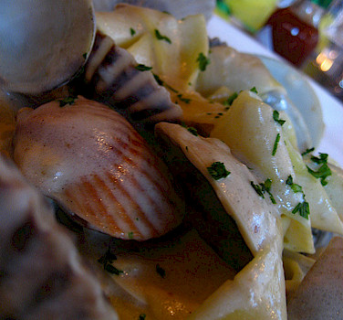 Clams from the sea! Photo via Flickr:adactio
