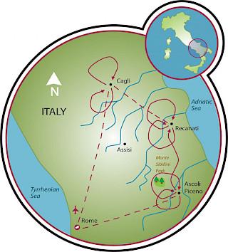 Le Marche Map