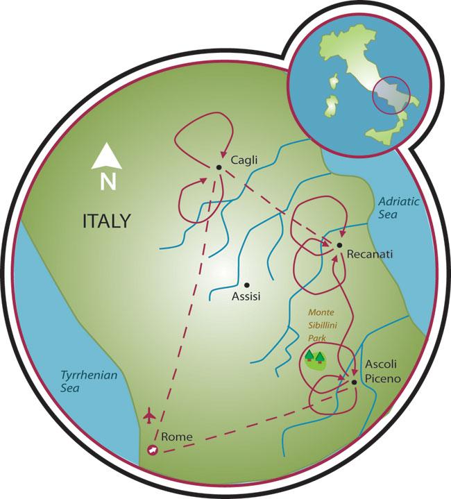 Le Marche Road Bike Tour Italy Tripsite