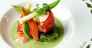 Fine dining in France. Photo via Wikimedia Commons:Jacques Lameloise