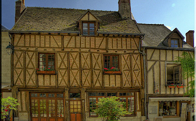 Half-timbered architecture in Amboise, France. Flickr:@lain G