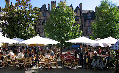 Outdoor cafe in Tours, France. Photo courtesy TO