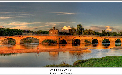 Bridge in Chinon, France. France. Flickr:@lain G