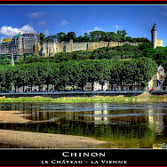 Le Château - Le Vienne in Chinon, France. Flickr:@lain G