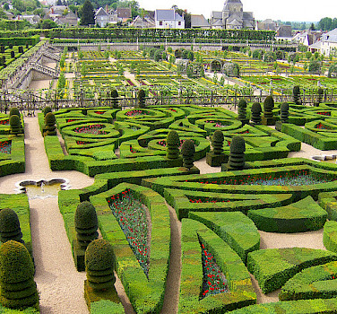 Gardens at Villandry Chateau. Photo via Flickr:Joe Shlabotnik