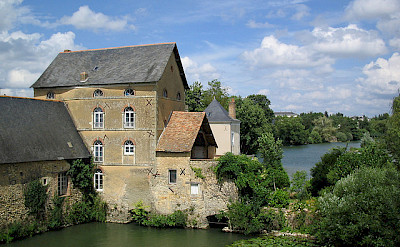 House literally on the river in Anjou. Flickr:mark.bold