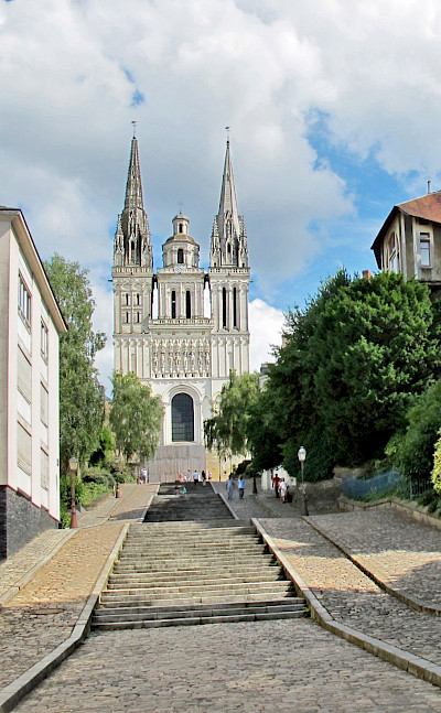 St. Maurice Cathedral in Angers, Maine-et-Loire, France. Flickr:Daniel Jolivet