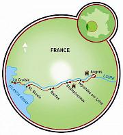 Loire Valley - Angers to St. Brévin/Le Croisic Map