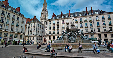 Main square in Nantes, France. Flickr:Peter Stenzel
