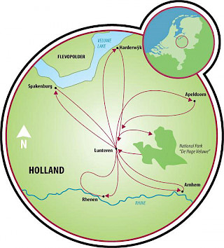 Lunteren and Gelderland Map