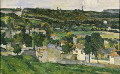 Painting of Auvers-sur-Oise by Paul Cezanne, 1879.
