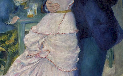Dance at Bougival by Pierre-Auguste Renoir, 1883.
