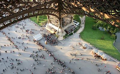 Eiffel Tower climb in Paris, France. Flickr:rous