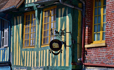 Beautiful facades to be found in Pont-l'Evèque, France. Flickr:isamiga76