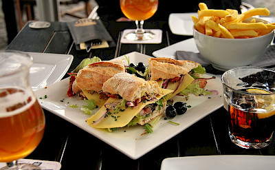Lunch at café in Maastricht, the Netherlands. Flickr:Jorge Franganillo