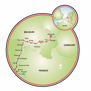 Maastricht to Paris Map