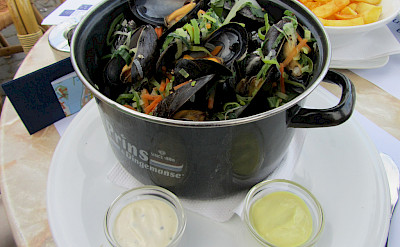 Moules Frites in Maastricht, the Netherlands.