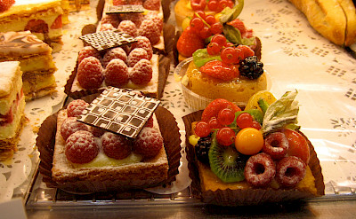 Bike fuel at the Patisserie in France. Flickr:Annie Haradaviot