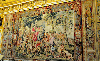 Tapestry at the Palace Versailles in France. Flickr:Kimberly Vardeman