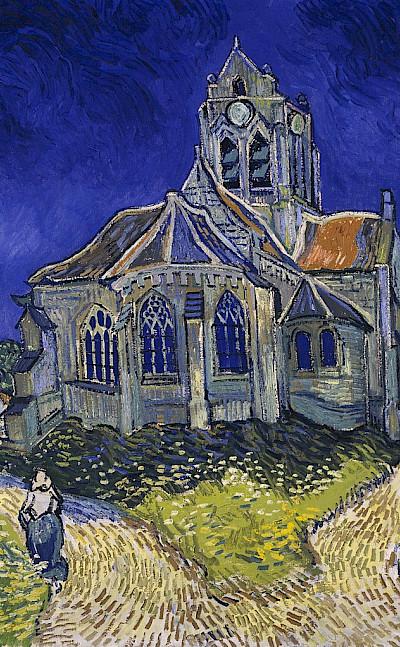 Church in Auvers-sur-Oise by Vincent van Gogh, June 1890.