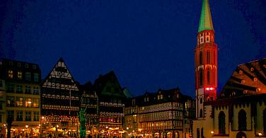 Marktplatz am Römer in Frankfurt-am-Mainz, Germany. Photo via Flickr:Polybert49