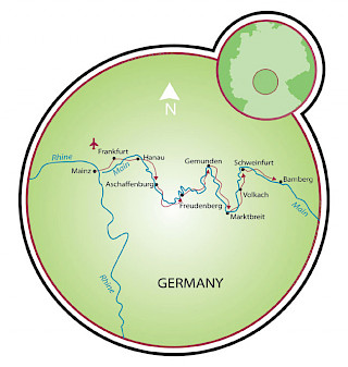 Mainz to Bamberg Map