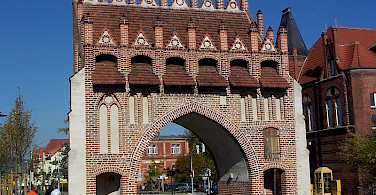 Malchin's Brick Gothic Town Gate - photo by Ch Pagenkopf via Wikimedia Commons