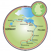 Berlin to Malchin Map