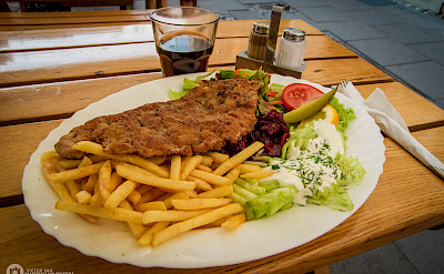 Schnitzel makes great biking fuel. Photo via Flickr:Victor van Werkhooven