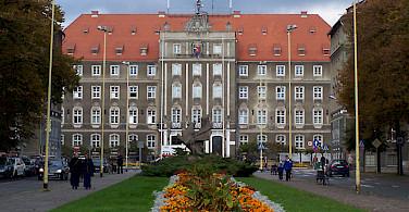 City Hall in Szczenin, Poland. Photo by Remigiusz Jozefowicz
