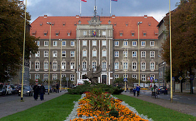 City Hall in Szczenin, Poland. Photo by Remigiusz Jozefowicz