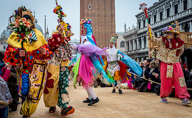Ballad of Masks Festival in Venice, Veneto, Italy. Photo via Flickr:Sergey Galyonkin