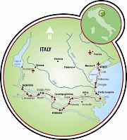 Mantova to Venice or Venice to Mantova Map