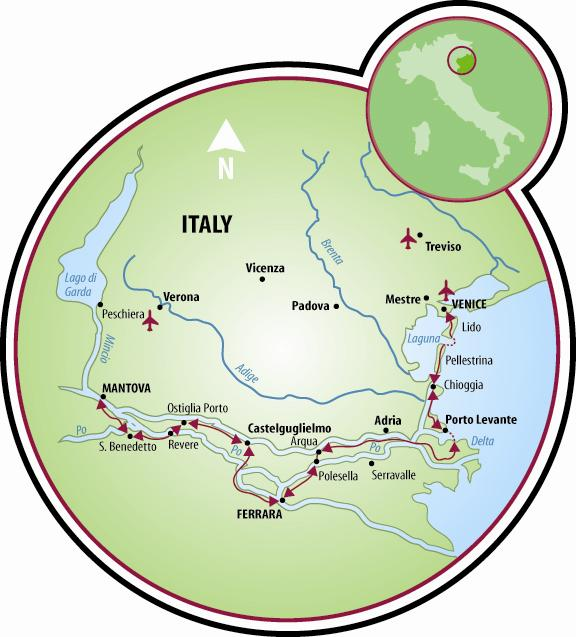 Mantova To Venice Bike And Barge Tour Italy Tripsite