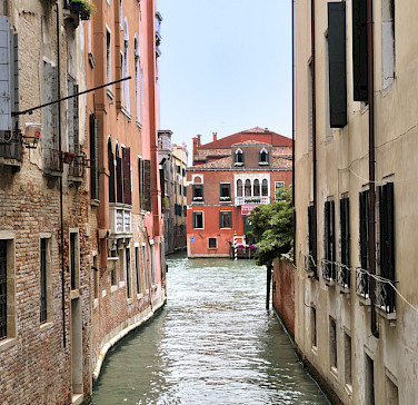 Water streets in Venice, Veneto, Italy.